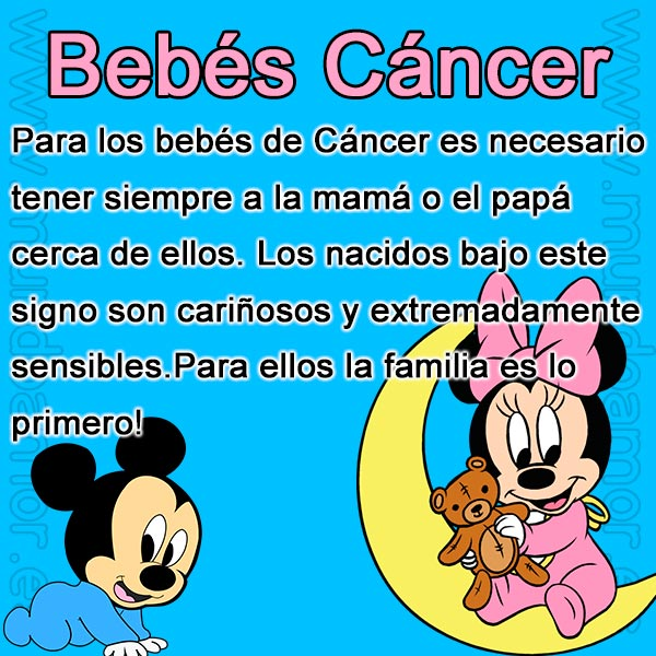 Bebes signo Cancer