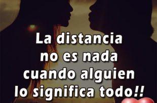 La distancia no es nada