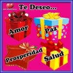 Amor, paz, prosperidad y salud