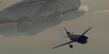 Un avión de pasajeros estuvo a punto de estrellarse con un Ovni