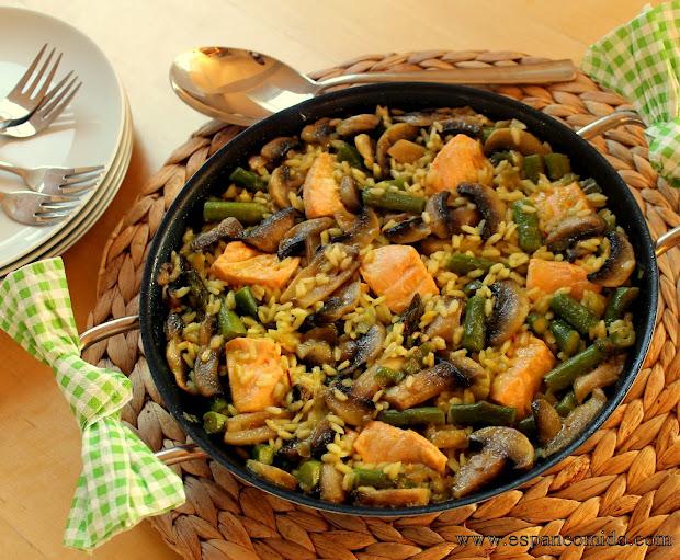 Arroz con salm n y verduras mundoamores - Arroz con pescado y verduras ...