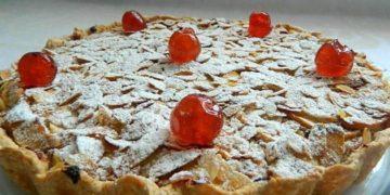Receta de tarta de almendra y manzanas