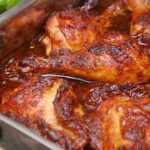 Receta de pollo enchilado al horno
