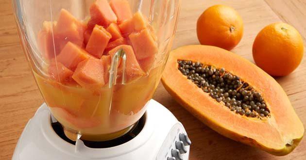 Licuado de papaya y avena