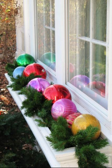 Decoración navideña para las ventanas