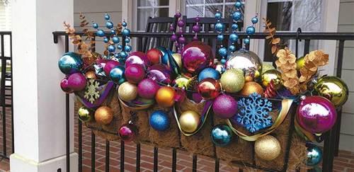 Esferas navideñas de colores
