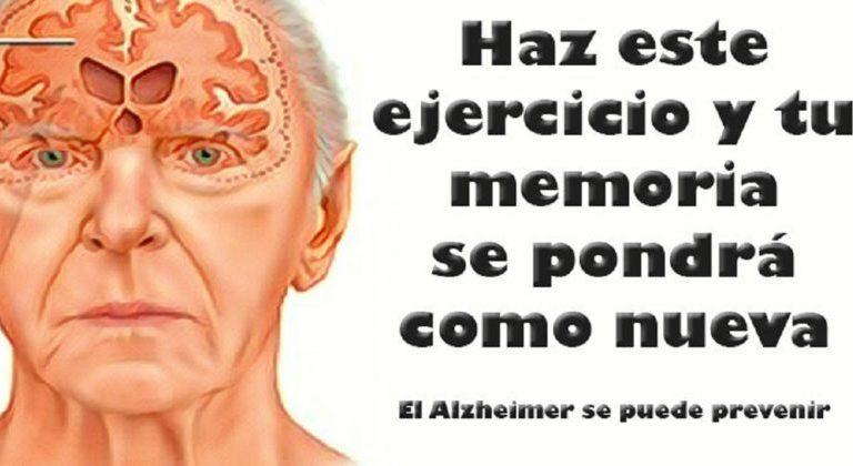 Realiza este ejercicio 1 vez al día y podrás prevenir el alzheimer y mejorar tu memoria